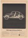 1969 Volkswagen Introduces Medi-car VW Beetle Check-up Like X-ray Print Ad