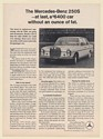 1966 Mercedes-Benz 250S a $6400 Car Without an Ounce of Fat Print Ad