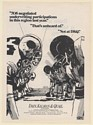 1972 Dain Kalman & Quail Investment Research Football Players Illustration Ad