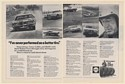 1972 Stunt Driver Carey Loftin Shell Steel Belted Tires Driving Test 2-Page Ad