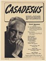 1948 Robert Casadesus Pianist Photo Booking Print Ad