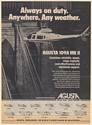 1983 Agusta 109A MK II Helicopter Always on Duty Anywhere Any Weather Print Ad