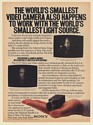 1983 Sony CCD World's Smallest Video Camera Print Ad
