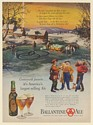 1947 Ballantine Ale 3 Rings Ice Cutters Job is Finished Boss is Due Print Ad