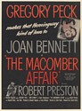 1947 Gregory Peck Joan Bennett The Macomber Affair Movie Promo Print Ad