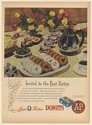 1947 A&P Jane Parker Donuts Invited to the Best Parties Print Ad