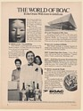 1971 The World of BOAC British Airways Orient Chief Steward JFK Terminal Ad