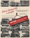 1952 Allied Structural Steel Railroad Bridge Theater Plants Highway Print Ad