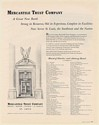 1952 Mercantile Trust Company St Louis Great New Bank Board of Directors List Ad