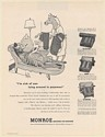 1952 Zebra Lounging Wife Nagging Monroe Calculating Adding Accounting Machine Ad