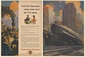 1946 Pennsylvania Railroad Checks Every Year for 100 Years 5505 Train 2-Page Ad