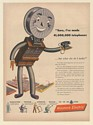 1946 Western Electric Telephone Switchboard Character Make Bell Phones Wire Ad