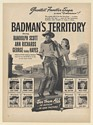1946 Randolph Scott Ann Richards Badman's Territory RKO Movie Promo Print Ad