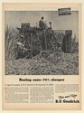 1946 Sugar Cane Harvester Tractor Louisiana Farmer B.F. Goodrich Tires Print Ad