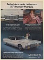 1971 Mercury Marquis Brougham Better Ideas Make Better Cars Print Ad