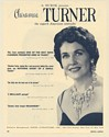 1960 Claramae Turner Contralto Photo Booking Print Ad