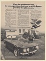 1974 Alfa Romeo When the Neighbors Ask Wrong Questions Print Ad