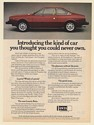 1976 Lancia Beta Coupe Introducing Kind of Car Thought You Could Never Own Ad