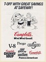 1992 Campbell Kids Golfing Campbell's T-Off with Great Savings Safeway Print Ad