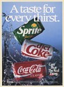 1992 Coca-Cola Classic Diet Coke Sprite Cans A Taste for Every Thirst Print Ad