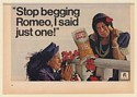1967 Bert Lahr Lay's Potato Chips Stop Begging Romeo I Said Just One Print Ad