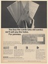 1964 Xerox Microfilm Punched Card Equipment Print Ad