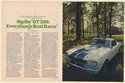 1974 Shelby GT 350 Ford Mustang Everyman's Real Racer 8-Page Article