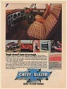 1978 Chevy Blazer Cheyenne Interior Tough Doesn't Have to be Rough Print Ad