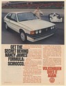 1978 VW Volkswagen Scirocco Secret Behind Nancy James Formula Race Car Print Ad