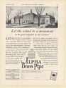 1926 Washington-Irving High School Tarrytown NY Chase Alpha Brass Pipe Print Ad