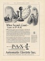 1926 P-A-X Private Automatic Exchange Telephone Automatic Electric Inc Print Ad