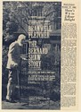 1965 Bramwell Fletcher in The Bernard Shaw Story Booking Print Ad