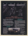 1987 Merkur Scorpio German Touring Sedan Take a Seat Enjoy Performance Print Ad