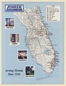 1987 Rinker Materials Corp Concrete Cement Aggregate Real Estate Florida Map Ad