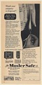1949 Mosler A Label Safe Flame Documents Test Print Ad