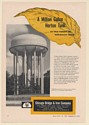 1955 Winston Salem NC Horton Radial-Cone Elevated Water Tank Tower Print Ad