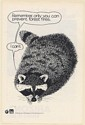 1980 Raccoon Only You Can Prevent Forest Fires Smokey The Bear Print Ad