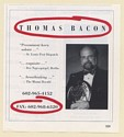 1998 Thomas Bacon Horn Soloist Photo Booking Print Ad