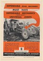 1960 Austin-Western Road Grader Mechanics Universal Joints Borg-Warner Print Ad
