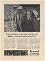 1961 Anaconda Copper Brass Bronze Traveling Value-Analysis Clinic Print Ad