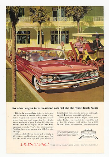 1960 Pontiac Catalina Safari Wagon Turns Heads Ad