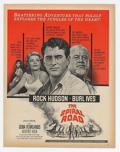 1962 Rock Hudson The Spiral Road Movie Promo Ad