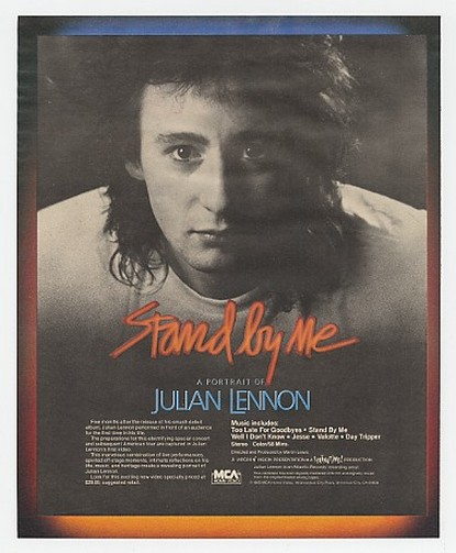 1986 Julian Lennon Photo Stand By Me Video Promo Ad