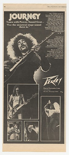 1978 Journey Photo Peavey Sound Gear Ad