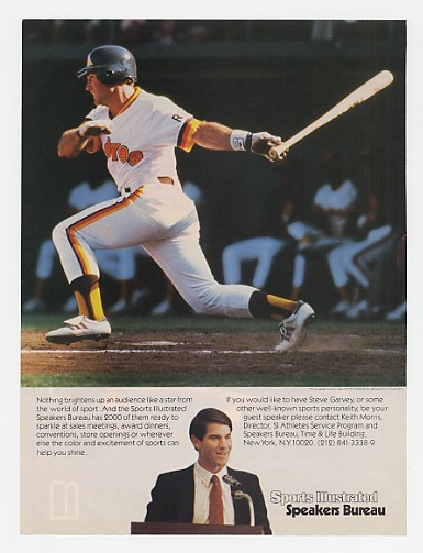 1985 Steve Garvey Photo Sports Illustrated Speakers Ad
