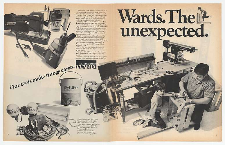 1970 Montgomery Ward Unexpected Tools Double-Page Ad