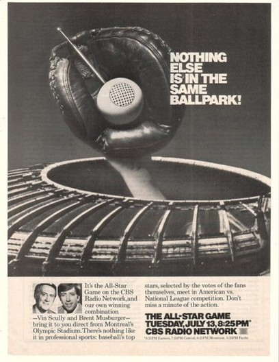 1982 Baseball All-Star Game CBS Radio Network Ad