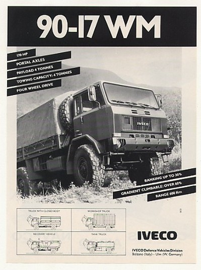 All Terrain Tires >> AdsPast.com - 1988 IVECO 90-17 WM Military Truck Photo ...