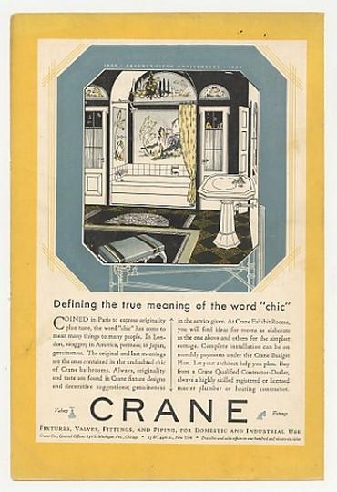 1930 Crane Bathroom Defining Meaning Of Chic Ad Ebay