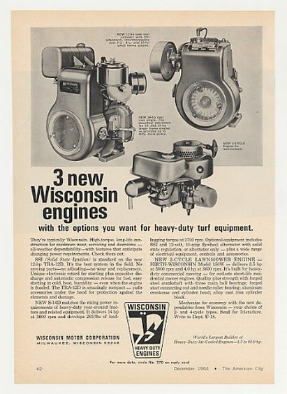 AdsPast com - 1968 Wisconsin TRA-12D S-14D 150W Heavy Duty